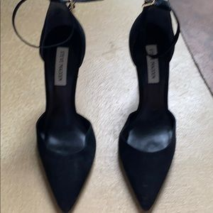 Pointy ankle strap heels